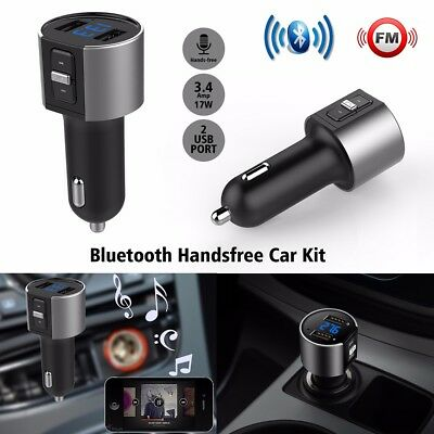 Wireless LCD Bluetooth Car MP3 FM Transmitter USB Disk Charger Handsfree Kit