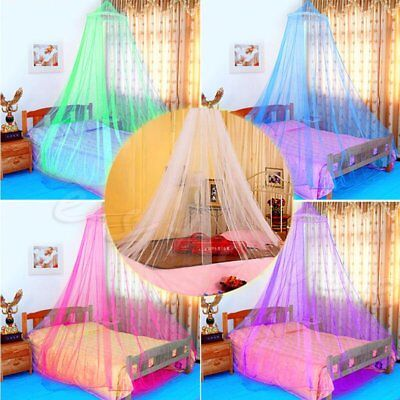 Elegant Lace Bed Mosquito Netting Mesh Canopy Princess Round Dome Bedding Net BA