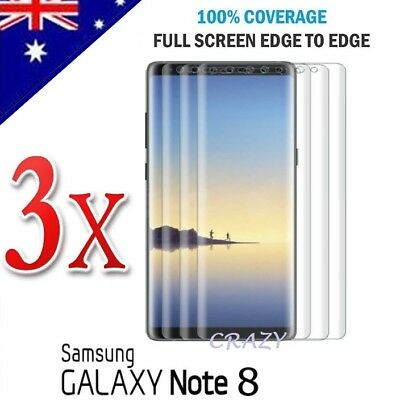 3X Curved Full Coverage Screen Protector Film For Samsung Galaxy Note 8