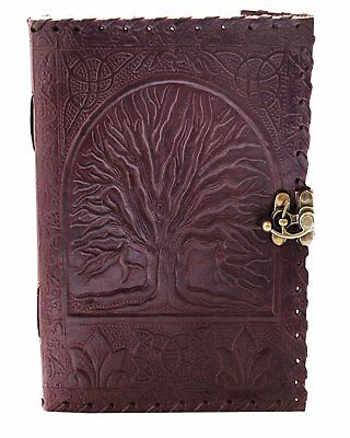 "8"" Blank Leather Journal large diary travel writing pad sketch book gift for kid"