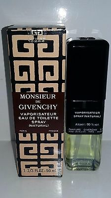 Monsieur de Givenchy 50ml - 1.75FL.OZ EDT Vintage Rare rare