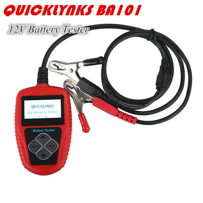 QUICKLYNKS BA101 OBD2 Automotive 12V Vehicle Battery Tester LCD Display