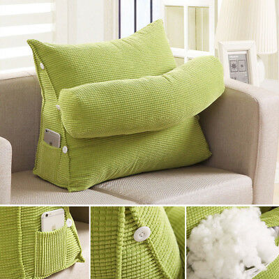 Adjustable Office Sofa Bed Cushion Waist Rest Neck Support Wedge Back Pillow