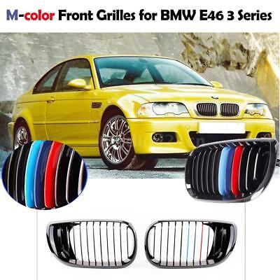 M-COLOR KIDNEY GRILLES GRILL FOR BMW 3 SERIES E46 330i 330xi 320i 325xi 325i UK