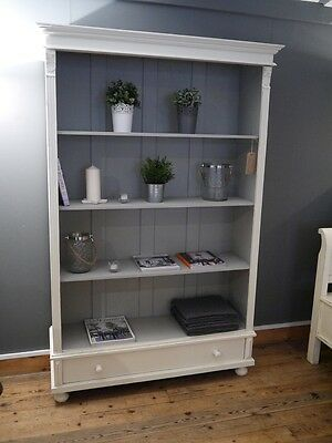 Painted Large Bookcase/display Cabinet