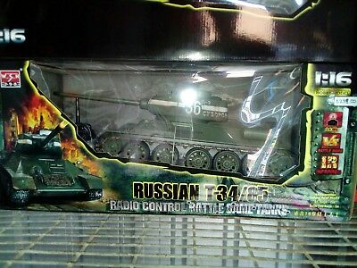 Trumpeter/WSN 1/16 RC Tank 2.4Ghz Russian T-34/85 Olive Green RTR - RC Addict