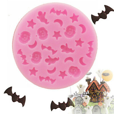 Halloween Silicone Mold Bat Fondant Moulds 3D Chocolate Mould Cake Molds Baking