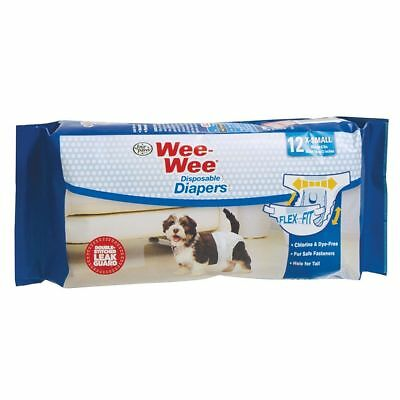 Four Paws Wee-Wee Disposable Diapers - X-Small - 12 pk