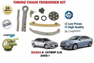 FOR MAZDA 6 2.0i 147bhp 2005-> NEW TIMING CAM CHAIN TENSIONER + GEARS KIT