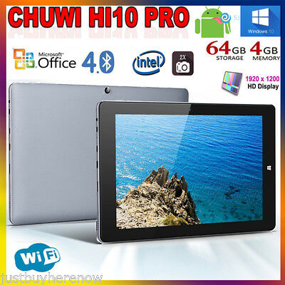 "10,1"" 4GB+64GB Chuwi Hi10 Pro Tableta Windows10 + Android 5,1 Tablet PC 4Core BT"
