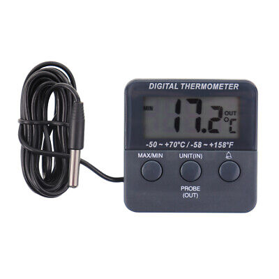 Digital Fridge Thermometer With Warning Alarm and Max Min Temperature - IN-071