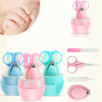 Child Baby Infant Finger Toe Nail Clipper Scissor Cutter Safety Manicure Kits