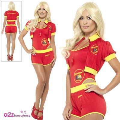 Deluxe Baywatch Lifeguard Official Adult 90's Sexy Celebrity Fancy Dress Costume