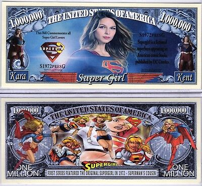 Supergirl - DC Comics & TV Show Character Million Dollar Novelty Money