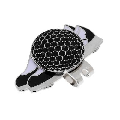 Funny Shoe Stainless Steel Golf Hat Clip with Magnetic Ball Marker Black