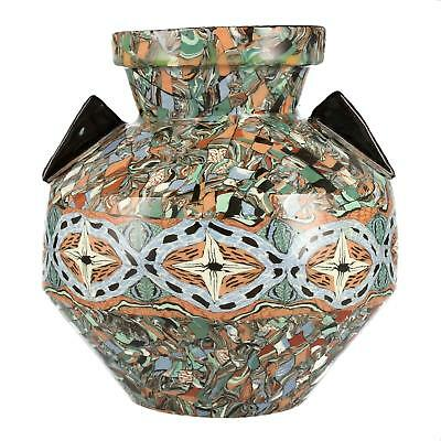 A Vallauris Jean Gerbino Mosaic vase French art pottery