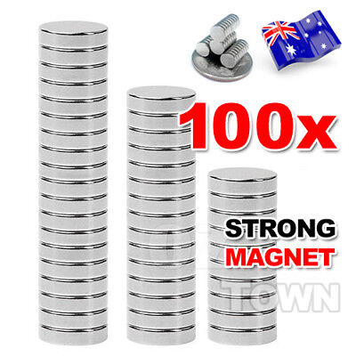 100X N35 Super Strong 10mm x 2mm Round Disc Magnets Rare Earth Neodymium Magnet