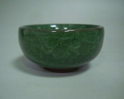 Very Rare Chinese Green Flowers Glaze Porcelain Cup