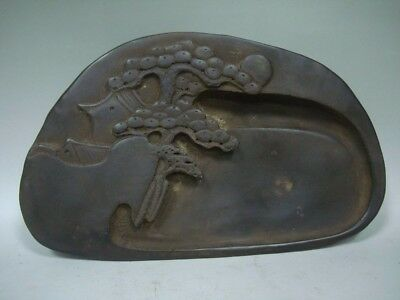 Rare Heavy Old Chinese Hand Carving Ink Stone InkSlab Marks