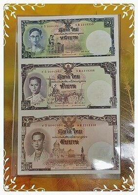 3 Of Set Commemorative Thai Banknote On The Auspicius Occasion Of The King Rama9