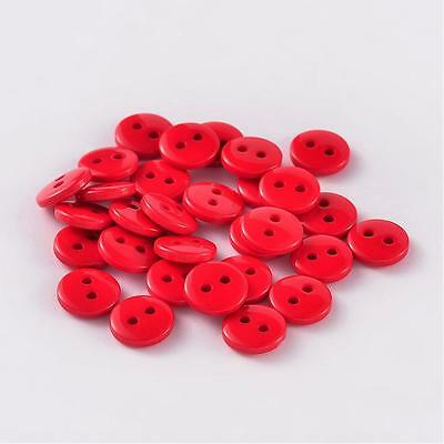 lot 20 boutons 11.5 mm rouge 2 trous couture mercerie scrapbooking neuf