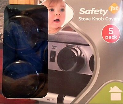 Safety 1st STOVE KNOB COVERS 5-Pack Universal Design ~ New in Box