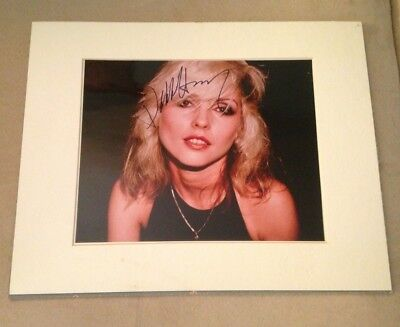 Vintage Debbie Harry Blondie Signed 1980 Photograph New Wave Heart of Glass