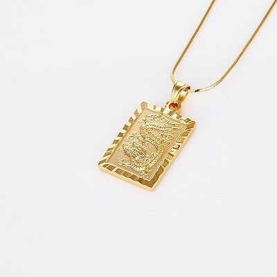 "Dragon Pendant Fashion 18k Yellow Gold Filled Men's/Women's Necklace 18""Link"