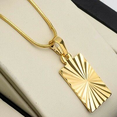 "Men's/Women's Pendant Necklace 18k Yellow Gold Filled 18"" Hot Link Fashion Chain"