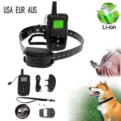 Rechargeable LCD Remote 540 Yard 100LV Shock Pet Dog Training Collar Waterproof