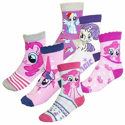 Official My Little Pony Hasbro Licensed Girls Socks 3-PACK Pairs Set New 2017/18