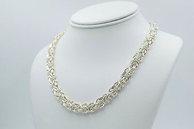 Milor Italian Sterling Silver Classic Byzantine Necklace 16""