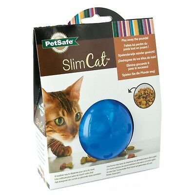 PetSafe SlimCat™ Treat Dispensing Cat Toy Ball Dishwasher Safe - Blue
