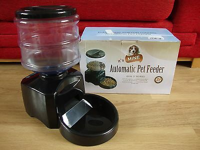It's Mine automatic Pet Food feeder very clean used condition boxed + manual