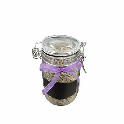 Loose Dried Lavender Filled Storage Jar with Chalkboard Label and  Chalk