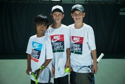 NIKE Tennis Camps HIGH QUALITY Team Core Boys T-Shirt Shirt - Children S M & L