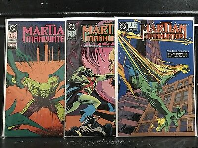 Lot of 3 Martian Manhunter #1 2 4 (1988 DC) Combined Shipping Deal!