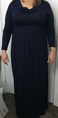 New Mother Bee Apparel Women's Long Dress Blue Size Large
