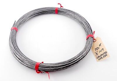 "1/8"", 1x19, 150 ft. Zinc Galvanized Steel Wire Rope - 150 ft."