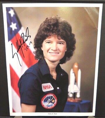 Sally Ride Autographed 8X10 NASA Photo FIRST USA WOMAN SPACE DECEASED STS-7 41-G