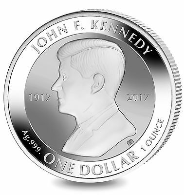 Ten 2017 $1 British Virgin Islands reverse proof 1oz silver coin John F Kennedy