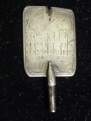 Antique 18th / 19th Century Hand Engraved Silver Pocket Watch Key