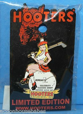 Hooters Jimmy V Celebrity Classic 2009 Never Give Up Golf Raleigh Nc Lapel Pin