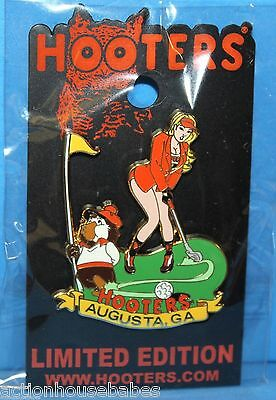 Hooters Masters Augusta Golf Tournament Girl Hootie Limited Edition Lapel Pin
