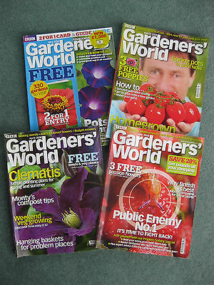 Bundle x 4 BBC Gardeners World magazines