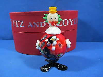 Fitz & Floyd Glass Menagerie Zippy Clown Limited Edition Figurine Glass Art New