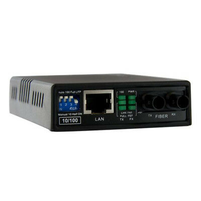 New StarTech.com 10/100 Multi Mode Fiber Copper Fast Ethernet Media Converter ST