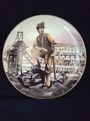 """1985 David Fisher Design Collector Plate """"Coal Miner"""" Limited Edition"""