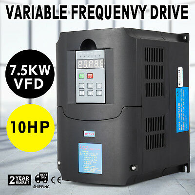 10HP 7.5KW 34A Variable Frequency Drive VFD AVR CNC 3 Phase Compressors SPWN