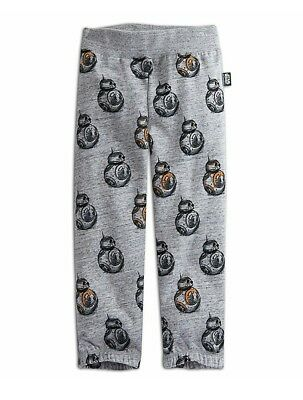 Disney Store Star Wars BB-8 Kids Boys Girls Sweat Pants Gray Sz 2,3,4 New